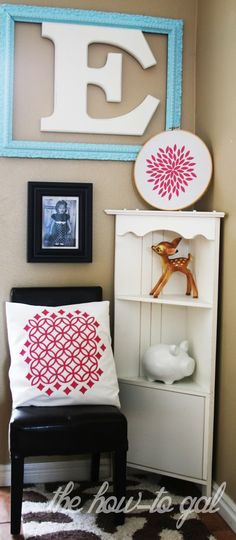 The How-To Gal: Kids Nook with Cricut Iron-On Vinyl