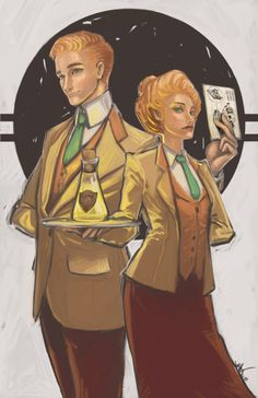 Lutece Twins Rosalind and Robert Bioshock Infinite