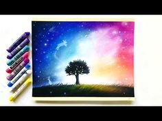 (3) Surrealistic galaxy drawing with pastel pencils and soft pastels | Leontine van vliet - YouTube