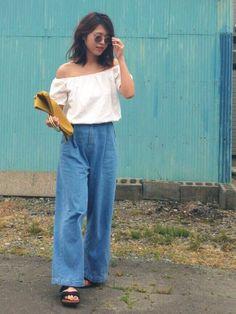 インスタ: mii_wear ▷プロフから飛べます✈︎ プチプラコーデ。 イエローバッグを差し色に