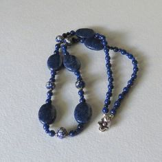Jewelry Necklace Blue on Blue and Blue SRAJD by Smokeylady54, $68.00