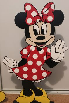 """24"""" Disney Minnie Mouse Decoration - Mickey Mouse - Birthday Party Decor - Wall Decor -Hanging Art - Red Polka Dots. $30.00, via Etsy."""