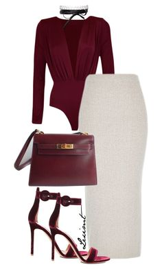 Untitled #758 by leximt on Polyvore featuring polyvore, fashion, style, Gianvito Rossi, Fallon and clothing