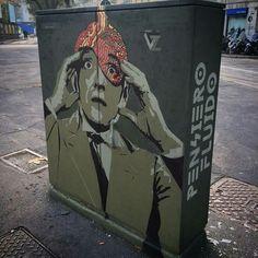 Street art in Milan (Piazza Baiamonti), Italy, by artist ZIBE. Photo by ZIBE.