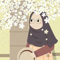 Doodle Cartoon, Baby Cartoon, Cartoon Art, Baby Hijab, Girl Hijab, Hijab Drawing, Islamic Cartoon, Anime Muslim, Hijab Cartoon