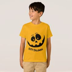 Happy Halloween Pumpkin Face T-Shirt - Halloween happyhalloween festival party holiday
