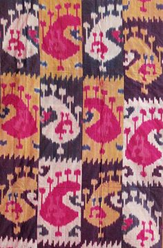 Ikat-Woven Panel - Central Asian (Bukhara), early 20th century