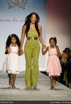 "Kimora Lee Simmons: Model, Mogul Mom - Life in the ""Fab Lane""--Beautiful Mom, Adorable Daughters. Kimora Lee Simmons, Celebrity Kids, Baby Phat, Mom Daughter, Family Affair, Black Girls Rock, Mother And Child, Beautiful Black Women, Beautiful Celebrities"