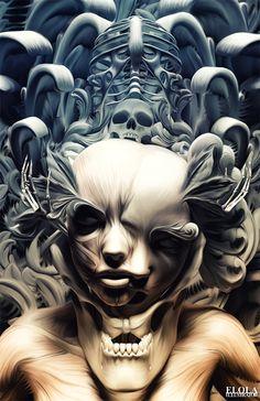 Organic Portrait | By Alfonso Elola  http://www.behance.net/elola