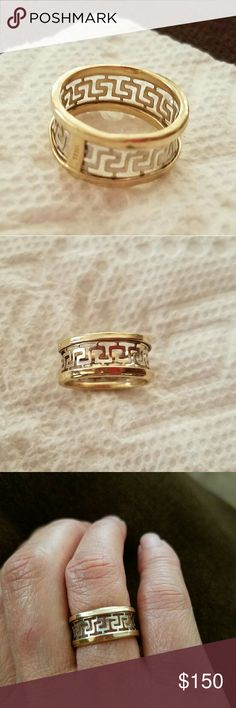Saudi gold grams Good Condition and nice Size 6 Fendi style Ring Jewelry Rings Class Ring, Fendi, Jewelry Rings, Nice, Gold, Stuff To Buy, Style, Ring