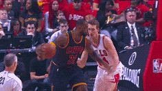 LeBron James and Timofey Mozgov — Cleveland Cavaliers