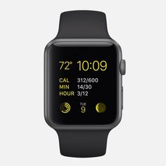 APPLE WATCH SPORT 38mm and 42mm Case 7000 Series Space Gray Aluminum Ion-X Glass Retina Display Composite Back Sport Band Black Fluoroelastomer Space Gray Stainless Steel Pin
