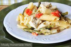 Mostly Homemade Mom - Veggie Loaded Pasta Primavera www.mostlyhomemademom.com