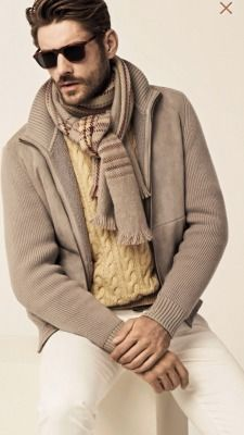 We love the soft hues of this Loro Piana Fall/Winter 2014 look. For more Loro Piana, visit http://balharbourshops.com/