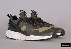 The Nike Air Huarache Utility Comes In Olive An Black
