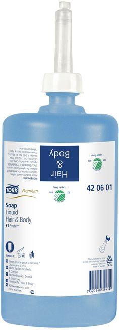 Sapun lichid Tork Premium Hair&Body, este un produs combinat din sapun si sampon pentru intregul corp, inclusiv pentru par.