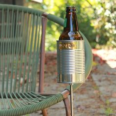For Dad Hobo Tin Can Beer Holder/ Garden Drink by stripeycity, $16.00