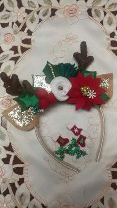 Christmas Hair Bows, Christmas Sewing, Christmas Crafts, Christmas Decorations, Xmas, Christmas Time, Christmas Ornaments, Holiday Decor, Diy Headband
