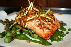 (PVD) Iron Works Tavern has the best salmon around!  http://goingout.com/ri/venues/140/Iron-Works-Tavern?photo=dining