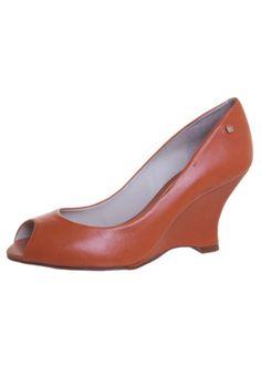 Peep Toe Capodarte Fashion Laranja - couro sintético