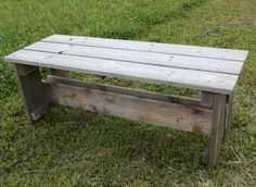 Bank aus Holzresten / Bench made from leftover planks / Upcycling