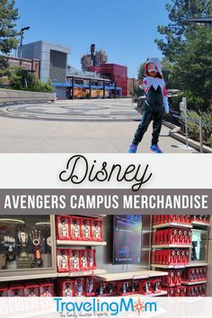 Did you know kids can wear costumes inside the Disney theme parks? Find out what's the best Avengers merchandise found in this new Land and what to buy before you leave home! Get the insider tips on touring Avengers Campus at Disney California Adventure park, how to ride WEBSLINGERS: A Spider-Man Adventure, must-eat foods and Marvel character sightings and entertainment. Tips on buying Disney souvenirs and what to look for within this Marvel-themed land at the Disneyland resort! #TMOMDisney Disney Vacation Club, Disney Cruise Line, Disney Vacations, Disney Souvenirs, Disney Destinations, Avengers Headquarters, Best Avenger, Disney California Adventure Park, Adventures By Disney