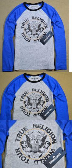 Tops Shirts and T-Shirts 175521: Nwt Boys Yth True Religion Rocker Raglan Hthr Gray Crew Baseball T Shirt Sz S-Xl -> BUY IT NOW ONLY: $34.99 on eBay!