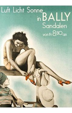 Bally Shoes for women vintage ad