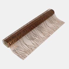 Løper organza 35cm brun/kobber 5m - STOFF & STIL