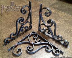 Potter Art Metal Studios: Wrought Iron Corbels                                                                                                                                                     More