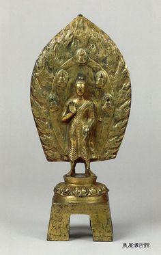 泉屋博古館 北魏 太和22年(498) 通高39.8㎝重文 鍍金弥勒仏立像