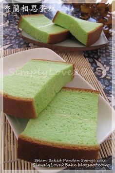 SimplyLove2bake: Steam Baked Pandan Sponge cake 香蘭相思蛋糕 (蒸烤)