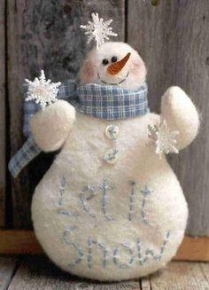 Snowman with scarf Gramma Scuffy's - Craft Patterns
