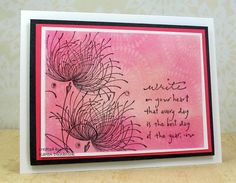 I love playing with my Distress inks....I love making bkg. and playing with simple techniques. That is what this card incorporate; simpl...