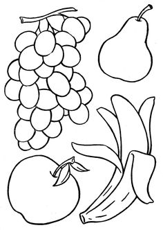 Fruit and Vegetable Coloring Pages Awesome Basketful to Color for toddler S Activities Turkey Coloring Pages, Vegetable Coloring Pages, Fruit Coloring Pages, Printable Coloring Pages, Colouring Pages, Coloring Pages For Kids, Coloring Books, Coloring Worksheets, Food Coloring