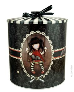 Gorjuss Biscuit Tin - Ruby