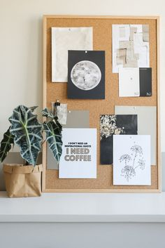 Create styles and mood boards with the vtwonen poster book Diy Room Decor, Living Room Decor, Bedroom Decor, Home Decor, Painel Home, Contemporary Curtains, Living Room Inspiration, Moodboard Inspiration, Home Office