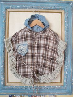 Upcycled handmade caplet poncho by TheBohoBabyBoutique on Etsy, $26.00