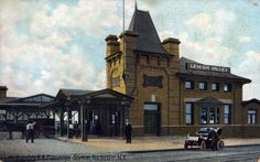 Postcard: Lehigh Valley Railroad, Rochester, NY.  My older sister and I were among the last passengers to go through this station. It closed permanently after we left it.