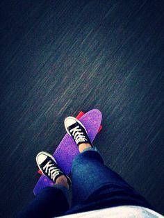 Cute. #Converse #Pennyboard