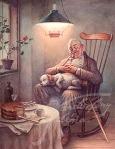 Szasz, Laszlo Endre Asleep After Dessert Art And Illustration, Illustrations, Photo Humour, Good Old Times, Art Pictures, Photos, Norman Rockwell, Country Art, People Art