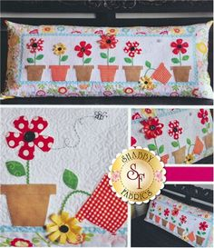 """May Flowers - Kimberbell Bench Pillow Pattern: The adorable """"May Flowers"""" interchangeable pillow cover by Kimberbell Designs is perfect for May!"""
