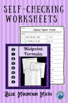 Looking for a way for students to practice solving for the midpoint that is self-checking? This worksheet has 12 problems. Students will solve the first problem, look for their answer to solve the next problem. They continue until they have looped through all the problems back to problem 1. If they have a wrong answer along the way, they will know it.
