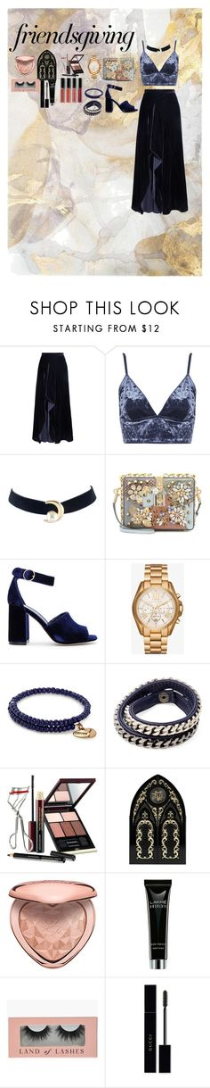 """friendsgiving"" by marie2017 ❤ liked on Polyvore featuring Roland Mouret, Topshop, Dolce&Gabbana, Joie, Michael Kors, Alex and Ani, Vita Fede, Kevyn Aucoin, Kat Von D and Too Faced Cosmetics"