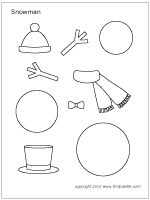 Image result for small snowman printable pattern