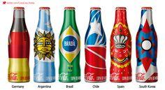 [Coke Code 353] 브라질에서는 2014 월드컵을 기념해 다양한 국가를 표현한 알루미늄 보틀도 선보였답니다! 이 중 대한한국을 모티브로 제작된 보틀도 있다는 사실 ^.~ 또 한 번 감동 주는 모두의 월드컵이죠?