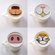 Para que los niños aprendan a tomar café.