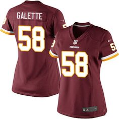 d5c89d841 Women s Nike Washington Redskins  58 Junior Galette Elite Burgundy Red Team  Color NFL Jersey nfl