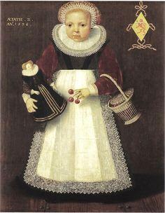 It's About Time: Children with Dolls 16C - 18C 1596 Isaac Claesz. van Swanenburg, Portrait of Catharina van Warmondt, 1596