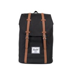 The Herschel Retreat™ backpack is a streamlined rendition of a classic mountaineering style, featuring a drawstring cinch closure and a magnetic strap fastened
